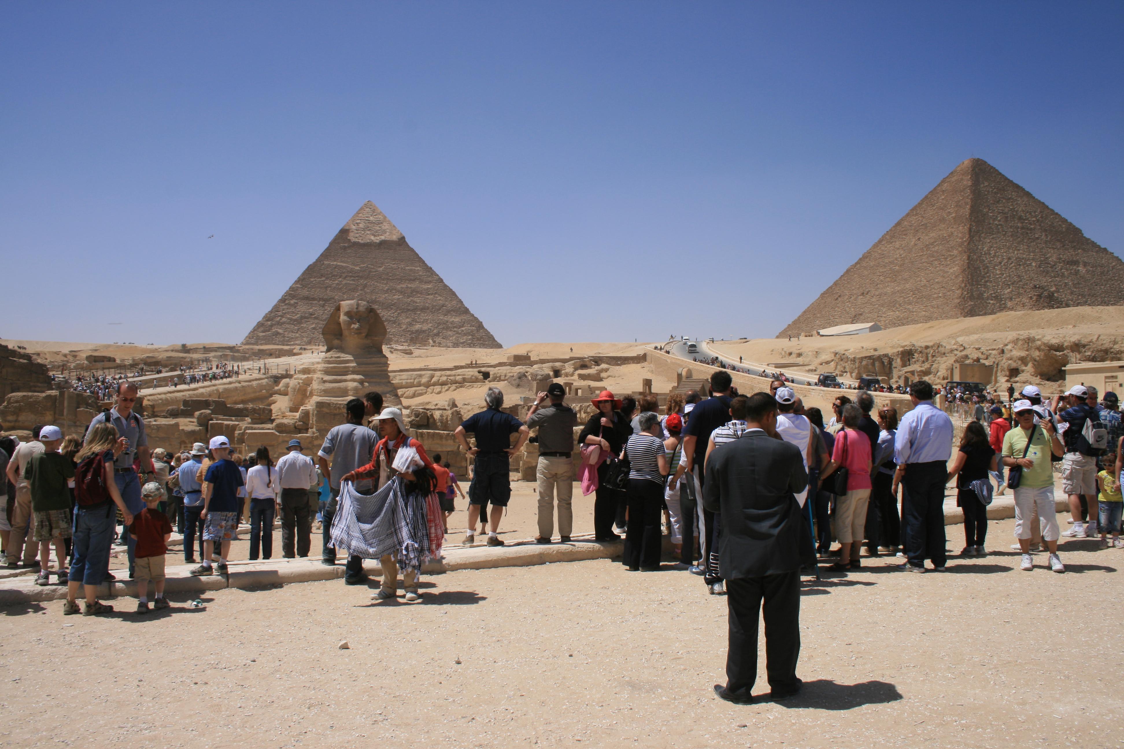 Giza Pyramids Crowds